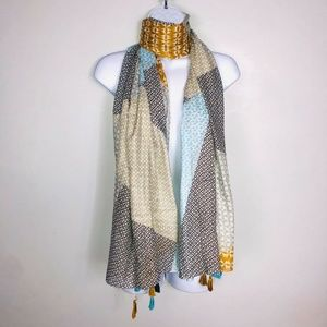 2 Chic Scarf Big Over Sized Multi Colored MB75